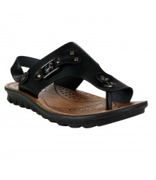 Cefiro Black Sandal for Men - CSD0030
